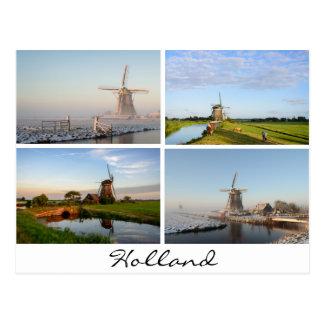 Landschaften mit Windmühlen in Holland-Postkarte Postkarte
