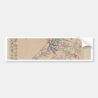 Landschaften und Blumen - Chinesen (Qing Dynastie) Autoaufkleber
