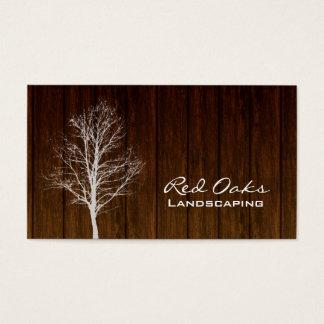 Landschaftlich gestaltenhölzerner Baum-weiße Eiche Visitenkarte