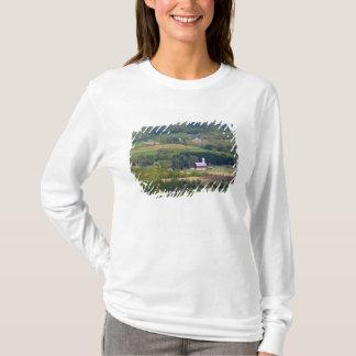 Landschaftliche Ansicht des Ackerlands südlich des T-Shirt