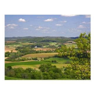 Landschaftliche Ansicht des Ackerlands südlich Postkarte