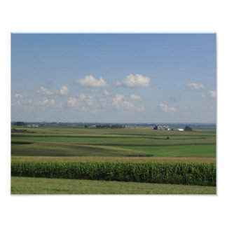 Landschaftliche Ansicht eines amischen Bauernhofes Poster