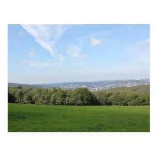 Landschaftliche Ansicht über Wuppertal Postkarte