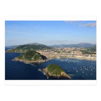 Landschaftliche Ansicht von San Sebastián Postkarte