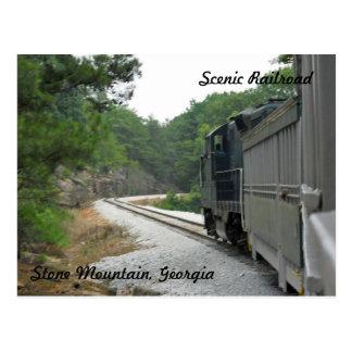 Landschaftliche Eisenbahn, Steinberg Georgia Postkarte