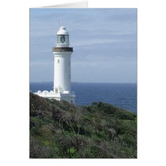 Landschaftliche Leuchtturm-Mitteilungskarten Grußkarte