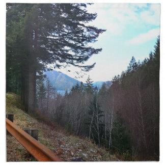Landschaftliche olympischer Nationalpark Serviette