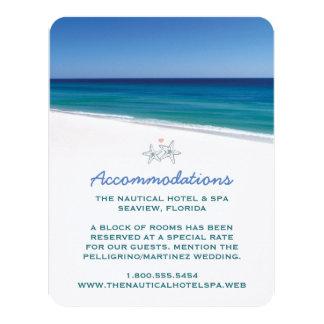 Landschaftliche Strand-Hochzeits-Einsatz-Karte Individuelle Ankündigskarten