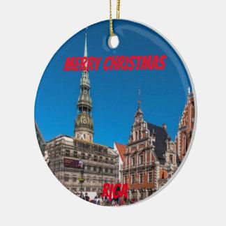 Landschaftliche Verzierung Rigas Lettland Keramik Ornament
