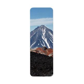 Landschaftliche vulkanische Landschaft von Kleiner Adressaufkleber
