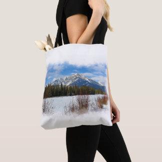 Landschaftlicher Kaskaden-Berg - Banff Alberta Tasche