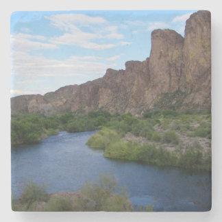 landschaftlicher Saguarosee Steinuntersetzer
