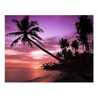 Landschaftlicher Sonnenuntergang Postkarte