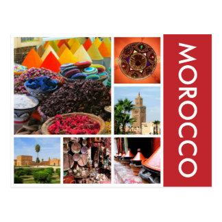 landschaftliches Marokko Postkarte