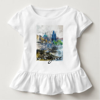 Landschaftliches Prag in der Tschechischen Kleinkind T-shirt