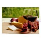 Landschafts-Wein, Käse u. Frucht Karte
