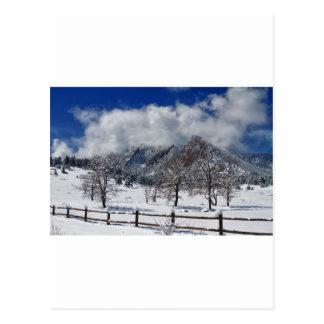 Landschaftsansicht Boulders Colorado Flatirons Postkarte
