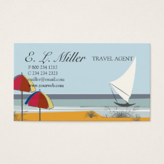 Landschaftsboots-Segelboot-Ozean-Ferien-Reise Visitenkarte