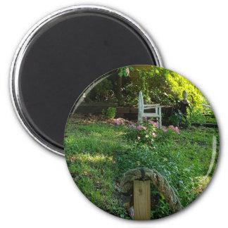 Landschaftschönheit der Natur unter dem Efeu Runder Magnet 5,1 Cm