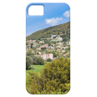 Landschaftsdorf mit Häusern im griechischen Tal iPhone 5 Schutzhülle