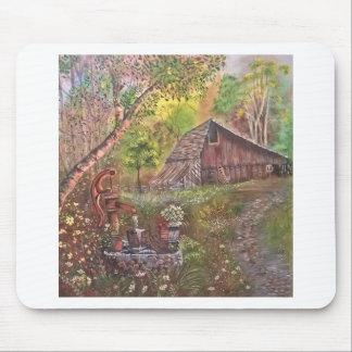Landschaftsfarbenmalereihandkunstnatur Mauspads