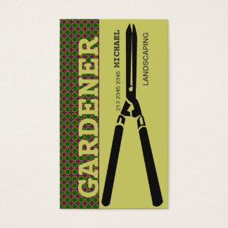 Landschaftsgärtnerei-Scheren für Gärtner Visitenkarte