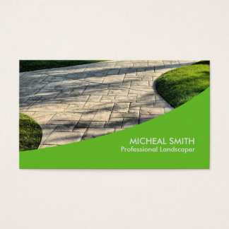 Landschaftsgestaltung den Rasen-Sorgfalt-Gärtner Visitenkarte