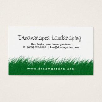 Landschaftsgestaltung der Rasen-Sorgfalt-wildes Visitenkarte