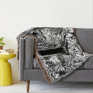 Landschaftskunst-Decken-WaldWurfs-Decken-Geschenke Decke