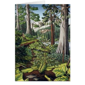 Landschaftskunst-Druck-leere Karte - BC Waldkarten
