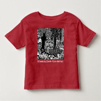 Landschaftskunst-T - Shirt-Stanley-Park Öko-Kunst Kleinkind T-shirt