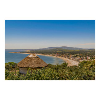 Landschaftsluftaufnahme Piriapolis Uruguay Poster