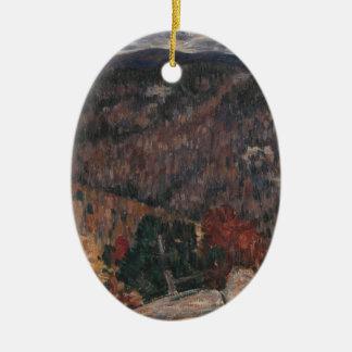 LandschaftsNr. 25 Ovales Keramik Ornament