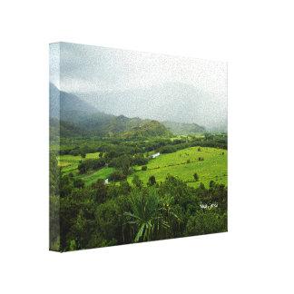 Landschaftsszene Kauais, Hawaii Leinwanddruck