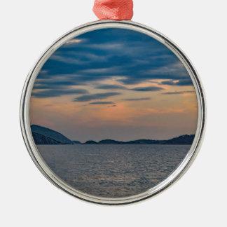 Landschaftsszene von Ipanema Strand Rio de Janeiro Silbernes Ornament