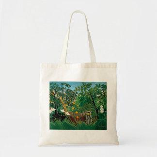LandschaftsTaschen-Tasche Henri Rousseau exotische Budget Stoffbeutel