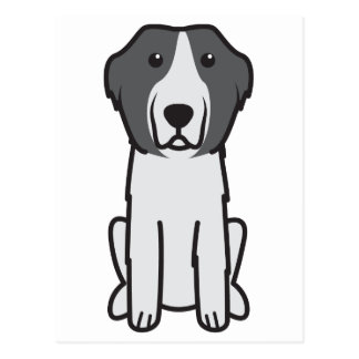 Landseer HundeCartoon Postkarten