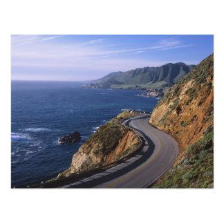 Landstraße 1 entlang der Kalifornien-Küste nahe Postkarte