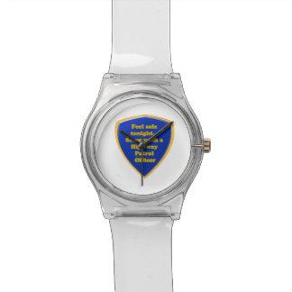 Landstraßen-Streifenpolizist Armbanduhr