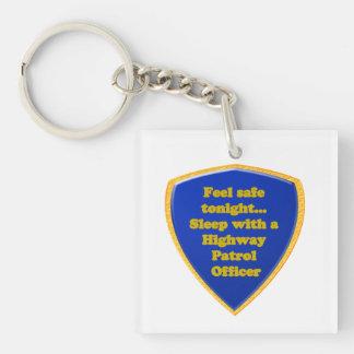 Landstraßen-Streifenpolizist Schlüsselanhänger