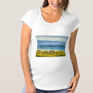 Landstreifen im Wasser Schwangerschafts T-Shirt