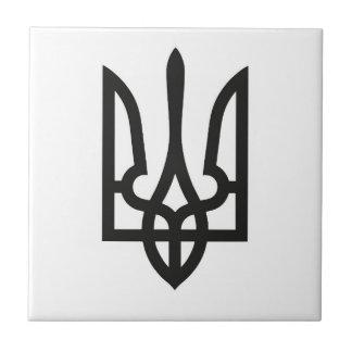 Landsymbolflagge nationalen Emblems Ukraine Fliese