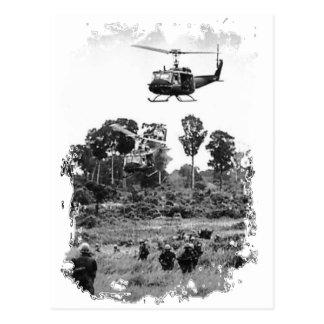 Landung Vietnams Huey Postkarte