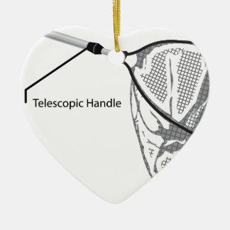 Landungsnetz für die Fischerei der Illustration Keramik Herz-Ornament