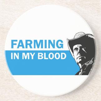 Landwirtschaft in meinem Blut, im Geschenk für Sandstein Untersetzer