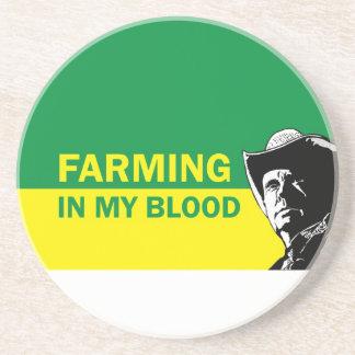 Landwirtschaft in meinem Blut, im Geschenk für Untersetzer