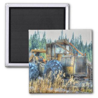 Landwirtschaftliche Maschinen, Traktor, Quadratischer Magnet