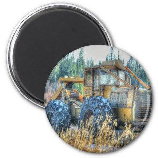 Landwirtschaftliche Maschinen, Traktor, Runder Magnet 5,7 Cm