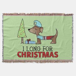 Lang für Weihnachten-Dackel Decke