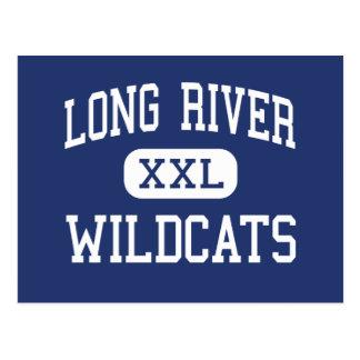 Lange Fluss-Wildkatzen-Mitte-Aussicht Postkarte
